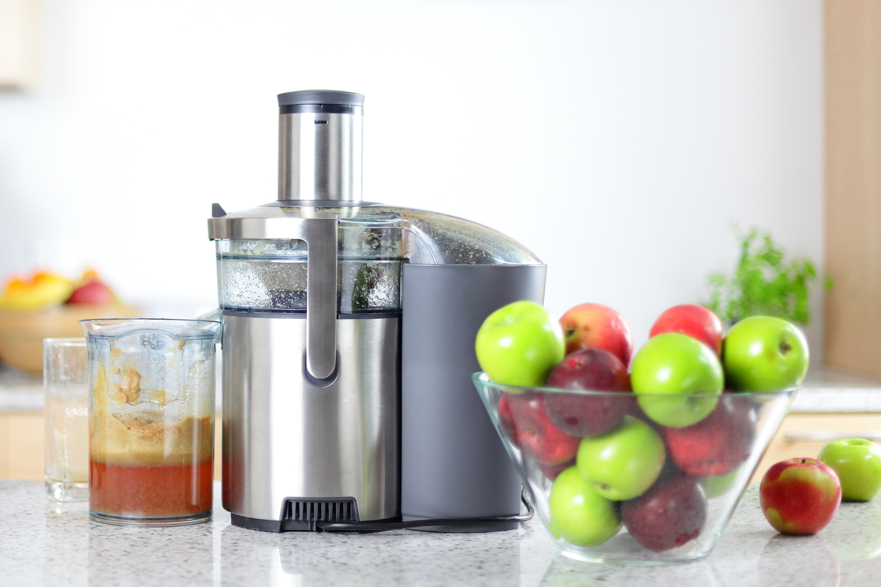 Juicer on kitchen worktop
